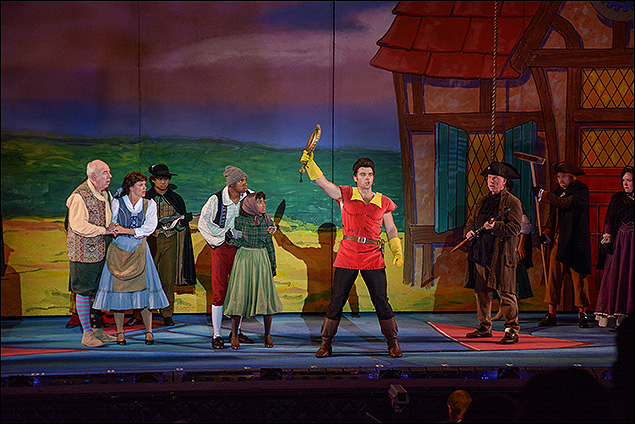Lenny Wolpe, Kate Rockwell, Nathaniel Hackmann and the cast of Beauty and the Beast