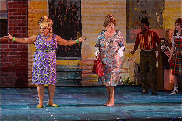 Liz Mikel, Bryan Batt and the cast of Hairspray