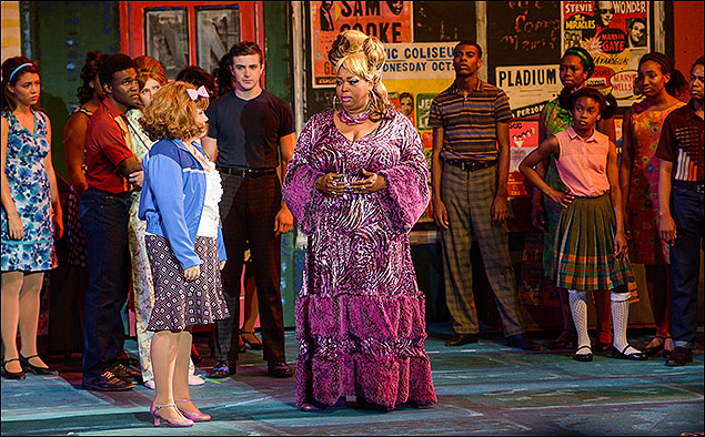 Ryann Redmond, Liz Mikel and the cast of Hairspray