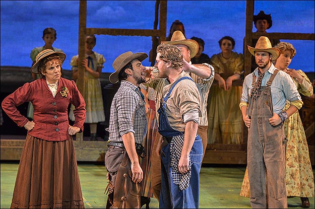 Beth Leavel, Clyde Alves and the cast of Oklahoma