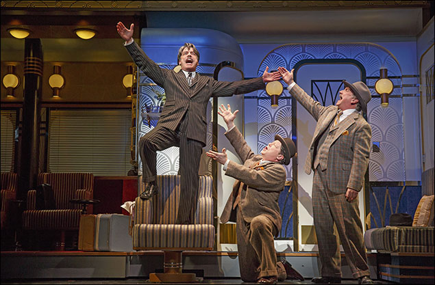 Peter Gallagher, Michael McGrath and Mark Linn-Baker in On The Twentieth Century, nominated for Best Revival of a Musical