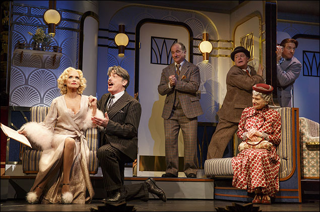 Kristin Chenoweth, Peter Gallagher, Mark Linn-Baker, Michael McGrath and Mary Louise Wilson in On The Twentieth Century, nominated for Best Revival of a Musical