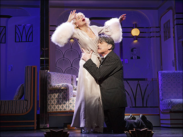 Kristin Chenoweth and Peter Gallagher in On The Twentieth Century, nominated for Best Revival of a Musical