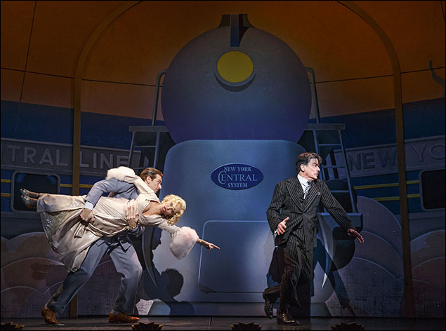 Kristin Chenoweth, Andy Karl and Peter Gallagher in On The Twentieth Century, nominated for Best Revival of a Musical