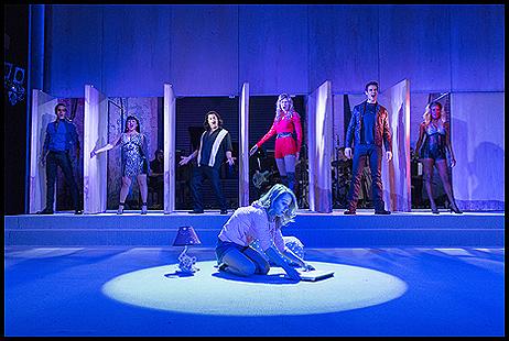 Jared Zirelli, Maria-Christina Oliveras, Steve Rosen, Alyse Alan Louis (foreground), Luba Mason, John Behlmann, Lulu Fall
