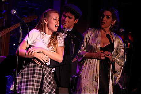 Kristen Martin, Christian Campbell and Lori Alan