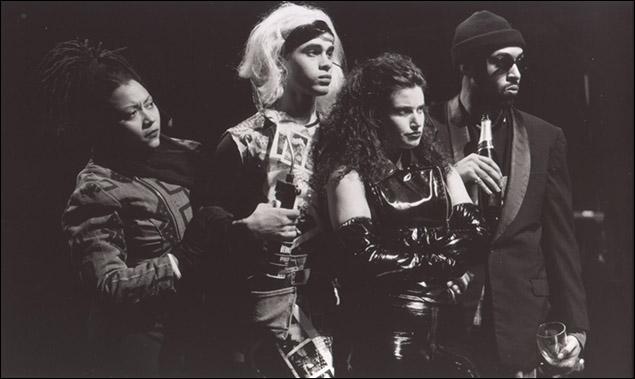Fredi Walker, Wilson Jermaine Heredia, Idina Menzel and Jesse L. Martin in Rent