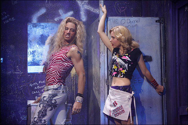 James Carpinello and Kerry Butler in Rock of Ages on Broadway