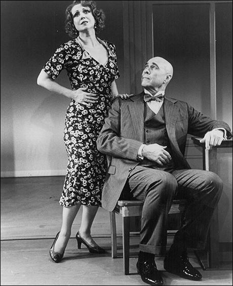 Donna McKechnie and Harve Presnell in the 1993 sequel Annie Warbucks Off-Broadway