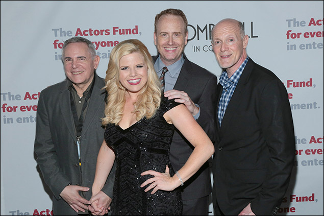 Craig Zadan, Megan Hilty, Robert Greenblatt and Neil Meron