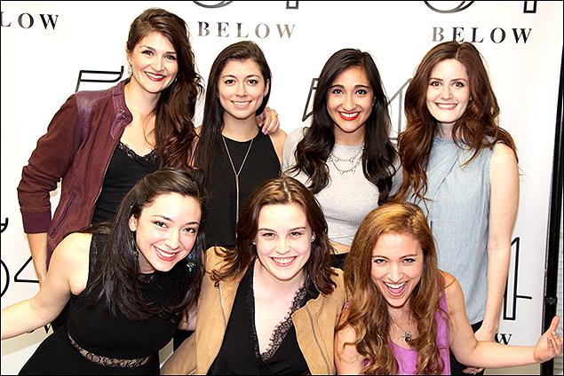 Sarah Hunt, Julie Benko, Krista Pioppi, Krystina Alabado, Kayla Foster, Claire Sparks, and Christy Altomare