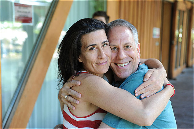 Composer Jeanine Tesori of Fun Home and Artistic Director of the Sundance Institute Theatre Program Philip Himberg at the 2012 Theatre Lab.