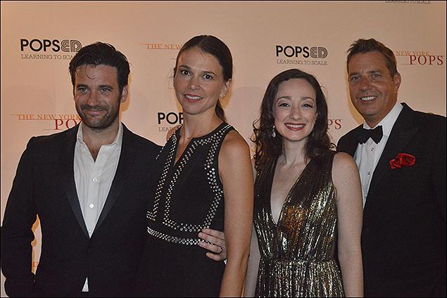 Colin Donnell, Sutton Foster, Megan McGinnis and Steven Reineke