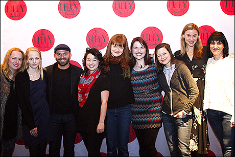 The cast of Tall Girls with Meg Miroshnik and Leigh Silverman