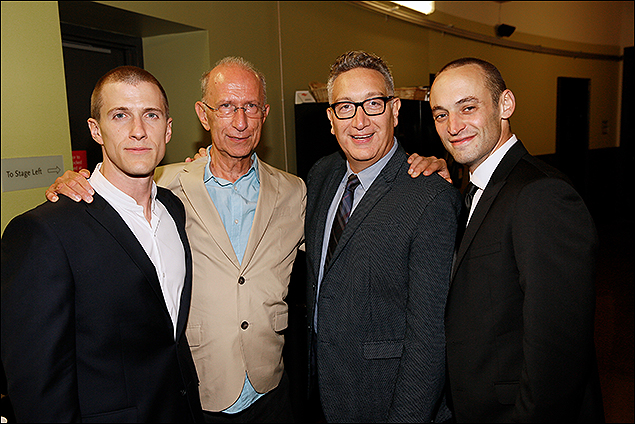 Patrick Heusinger, Playwright Martin Sherman, Director Moises Kaufman and Charlie Hofheimer