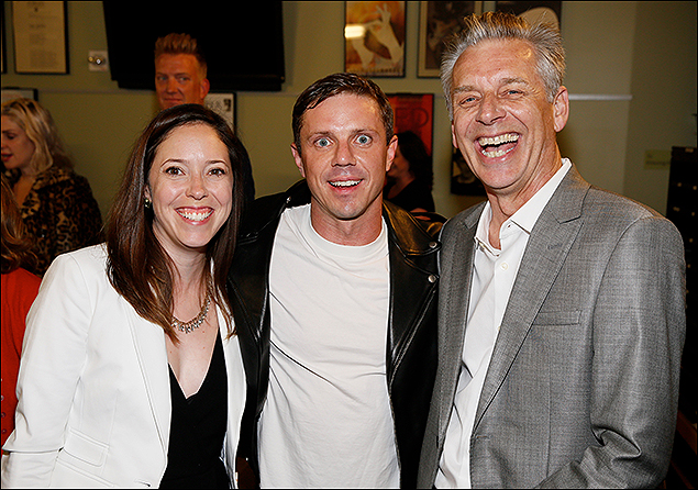 Associate Producer Lindsay Allbaugh, Jake Shears and CTG Artistic Director Michael Ritchie