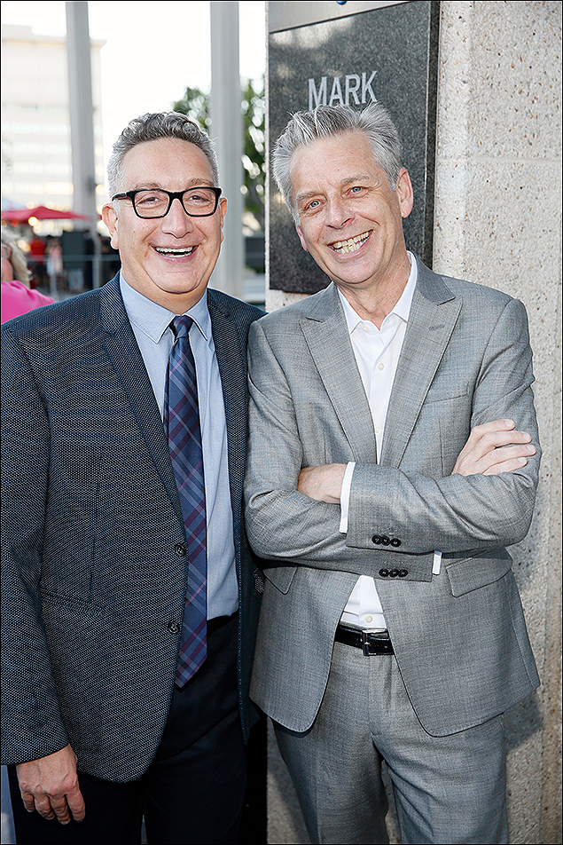 Moises Kaufman and CTG Artistic Director Michael Ritchie