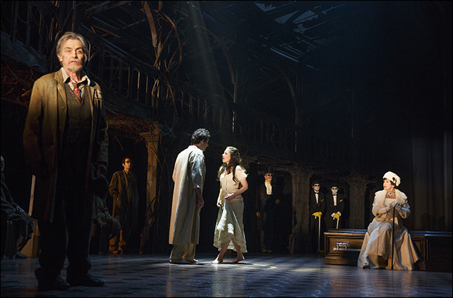 Roger Rees, John Riddle, Michelle Veintimilla and Chita Rivera The Visit, nominated for Best Musical