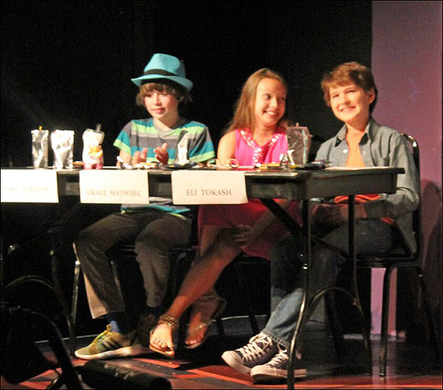 The Judges: Nicky Torchia, Grace Matwijec, and Eli Tokash