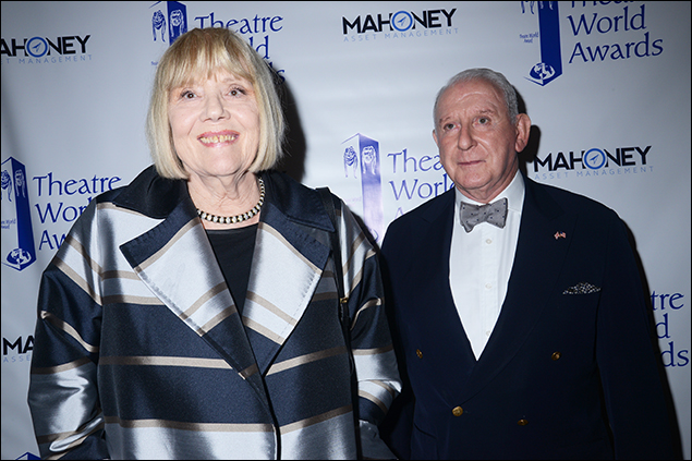 Diana Rigg with Lionel Larner of the Dorothy Loudon Foundation