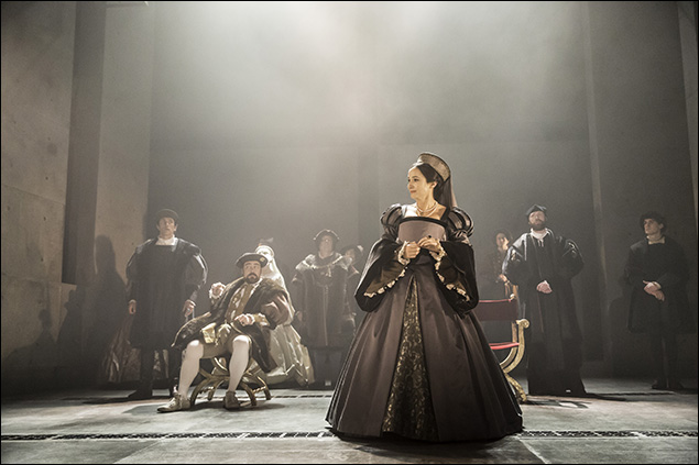 Ben Miles, Nathaniel Paker, Lydia Leonard, and Company  in Wolf Hall Part One & Two, nominated for Best Play