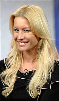 Denise Van Outen plays Maureen in the London revival of <I>Rent</I>.