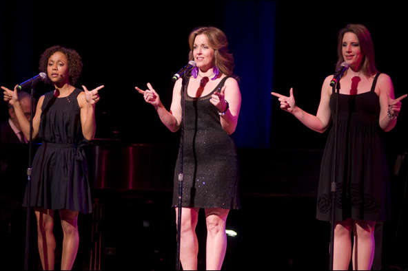 Dameka Hayes, Alice Ripley and Jessie Mueller