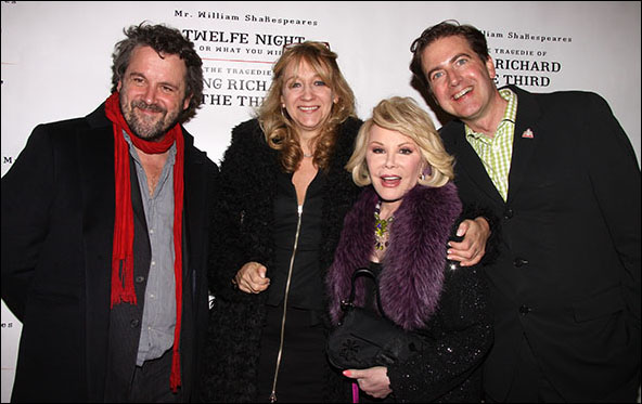 Dominic Dromgoole, Sonia Friedman, Joan Rivers and Neil Constable