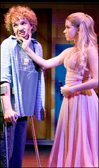 Tyler Mann and Emma Degerstedt in Jason Robert Brown's <i>13</i>.