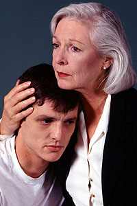 Alexander Pascal as Oswald and Jane Alexander as his mother in <i>Ghosts</i>.