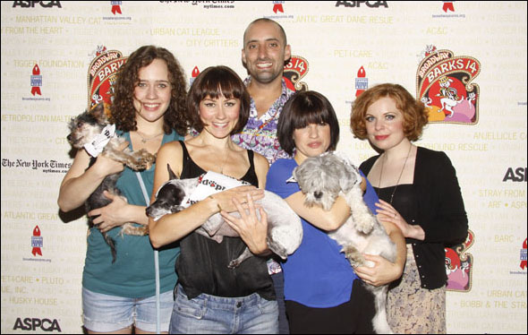 Natalie Smith, Claire Lams, Tom Edden, Jemima Rooper, Suzie Toase, Woody, Drago and Pepsi