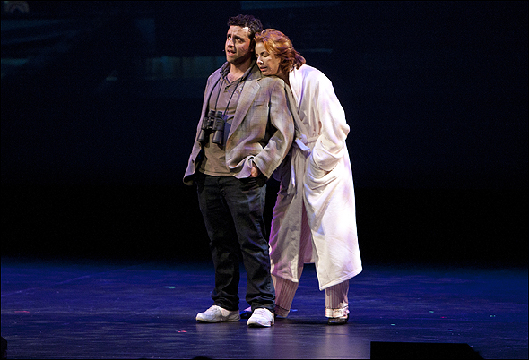 "David Krumholtz and Diane Neal perform ""Binoculars"""