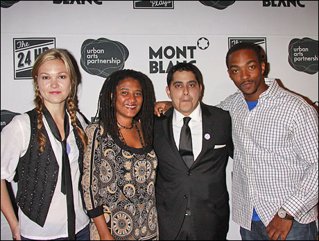 Julia Stiles, Lynn Nottage, Kristoffer Diaz and Anthony Mackie