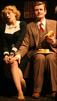 Jennifer Ferrin and Charles Edwards in <i>The 39 Steps</i>