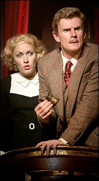 Jennifer Ferrin and Charles Edwards in <i>The 39 Steps</i>