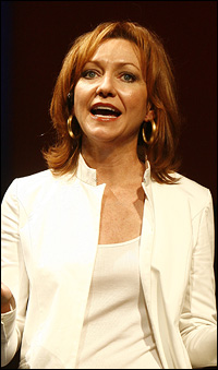 Julie White in her Tony-winning performance in <I>Little Dog Laughed</I>.