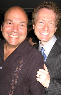 <i>Drowsy Chaperone</i> director Casey Nichelaw and co-author/original star Bob Martin.