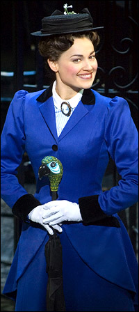 Ashley Brown in Broadway's <i>Mary Poppins</i>.
