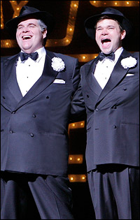 John Treacy Egan and Hunter Foster in <i>The Producers</i>.