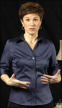 Lisa Kron in the Huntington Theatre's production of <i>Well</i>.