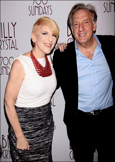 Lisa Lampanelli and Alan Zweibel