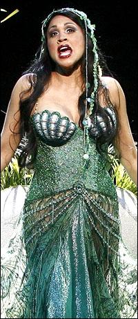 Nikki Crawford in the Las Vegas production of <i>Spamalot</i>.