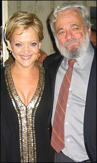 Maria Friedman with <i>Sweeney Todd</i> composer Stephen Sondheim.