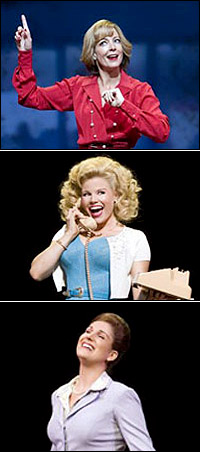 <I>9 to 5</I> workers Allison Janney, Megan Hilty and Stephanie J. Block