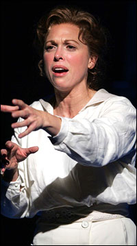 Carolee Carmello in an earlier workshop presentation of <i>Saving Aimee</i>.