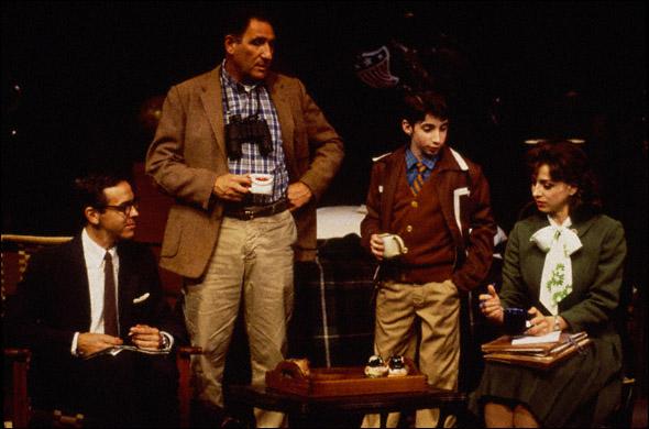 Jim Fyfe, Judd Hirsch, Dov Tiefenback, and Marin Hinkle