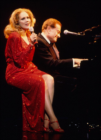 Florence Lacey and Jerry Herman