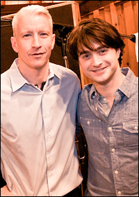 Anderson Cooper and Daniel Radcliffe