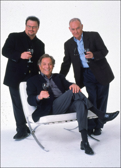 Buck Henry, George Segal, and Wayne Knight in a promotional shot