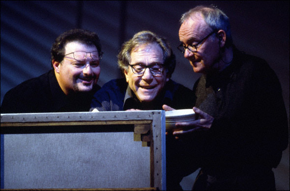 Wayne Knight, George Segal, and Buck Henry